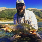 Bill from Concord Outfitters with his NZ Brown Trout