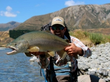 A huge Trout caught by angler in South Island NZ