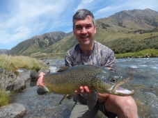Nic from Australia with his fine brown trout.